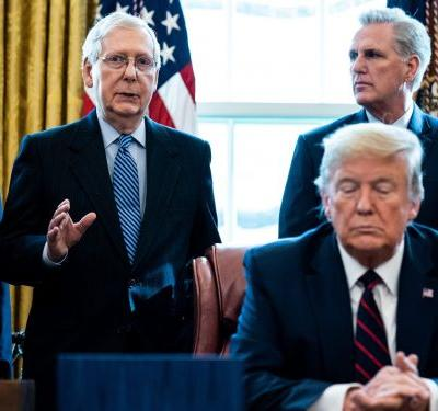 'Time to shiv him': Trump's political future in serious jeopardy as Republicans say Senate conviction and permanent ban from holding office remain very much in play