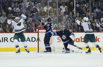 Wheeler scores 200th NHL goal, Jets beat Wild 4-3