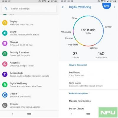 Nokia 7 Plus and Nokia 6.1 Plus users can now download Digital Wellbeing, available in beta preview for Android One devices