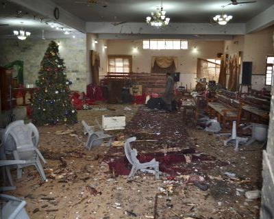 Suicide bombers kill 9 at church in Pakistan