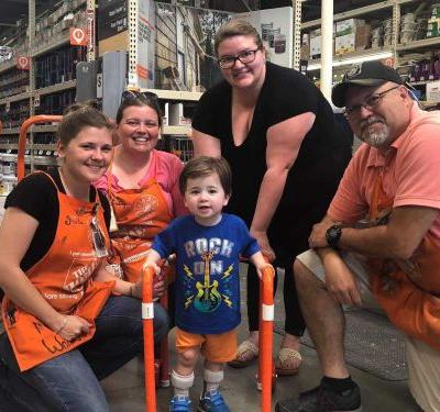 Home Depot workers build walker made of PVC pipes for 2-year-old boy