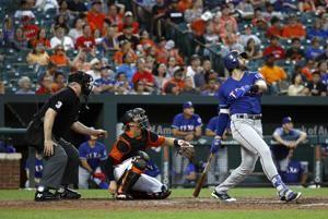 Rua's HR in 7th leads Rangers to 5-4 win over Orioles