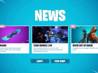 Fortnite Snowboard Vehicle Coming Soon