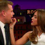 Watch Jessica Alba Give James Corden a Lipstick Makeover - Oh, You Read That Right!