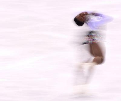 A French figure skater changed costume in the middle of her Winter Olympics routine