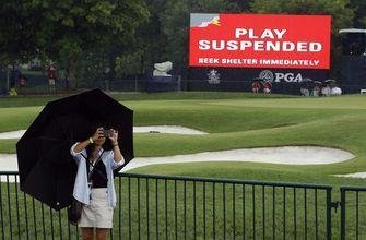 The Latest: Li withdraws from PGA Championship