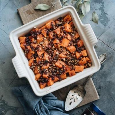 Miso Glazed Sweet Potato Casserole