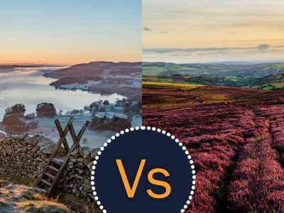 A battle in Britain: Lake District versus Peak District