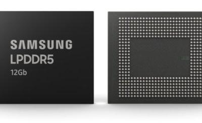 Samsung starts mass producing 5G- and AI-ready 12Gb LPDDR5 DRAM chips