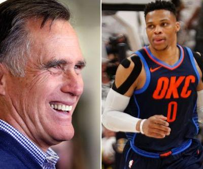 Mitt Romney showed up to taunt Russell Westbrook like everyone else