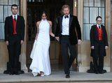 Meghan Markle and Prince Harry Are a Real-Life Barbie and Ken at Their Wedding Reception