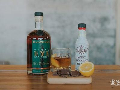 Chocolate Old Fashioned With Balcones Texas Rye 100