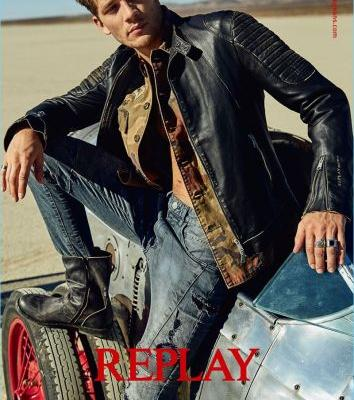 Andrey Zakharov Rocks Denim & Leather for Replay Spring '18 Campaign