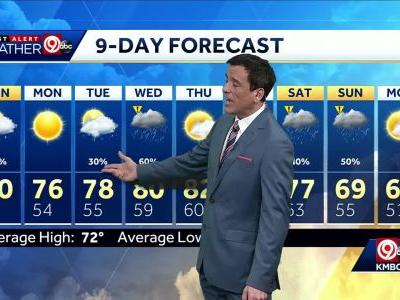 Cloudy Sunday ahead with slight chances for rain