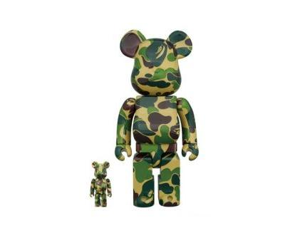 BAPE & Medicom Toy Release Limited BE RBRICKs in 1ST CAMO