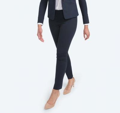 These cleverly designed women's work pants use your own body heat to smooth wrinkles - and they're worth the $145