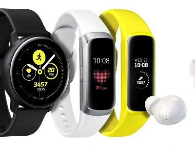 Samsung Galaxy Watch Active, Galaxy Fit Wearables Announced
