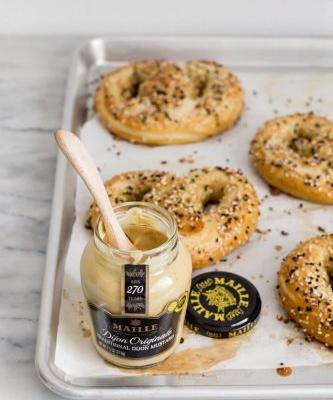 Homemade Everything Pretzels and Honey-Mustard Dip