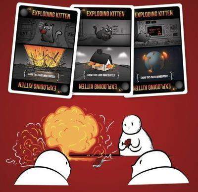 Get into the Exploding Kittens craze for less