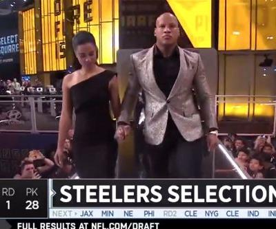 Steelers' Ryan Shazier walks on stage in emotional draft moment