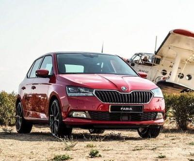The New Skoda Fabia Facelift Drive in Prague
