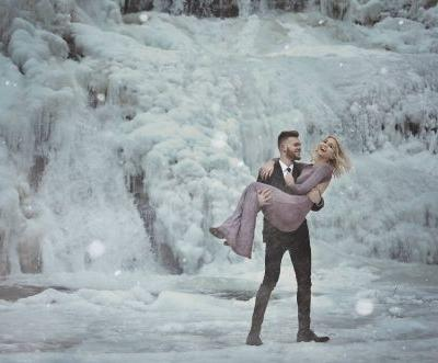 Couple's incredible icy engagement photos are enough to give anyone the chills