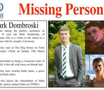 19-year-old college rugby player found dead after he went missing in Bermuda during a team trip