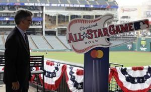 Rock stars: Indians unveil guitar logo for '19 All-Star Game