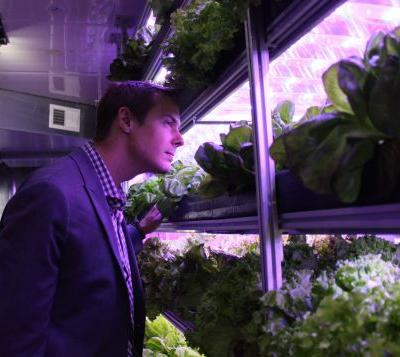 SpaceX buys produce from this high-tech farm in a shipping container - take a look inside