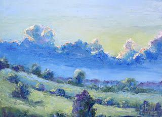 Blue Front Moving In, New Contemporary Landscape Painting by Sheri Jones