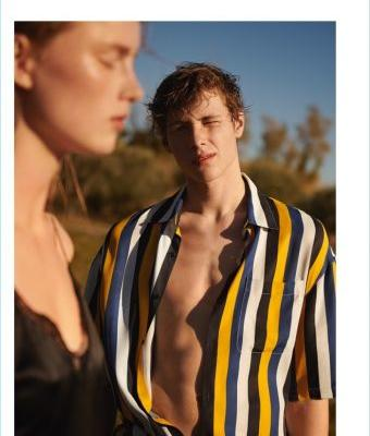 Noah Bunink Embraces Summer Vibes for Sandro Spring '18 Campaign