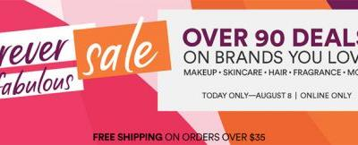 Ulta Forever Fabulous Sale   August 8th, 2018 Only!