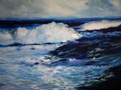 """Contemporary Seascape Painting """"Convergence"""" by International Contemporary Seascape Artist Arrachme"""