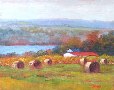Seneca Lake, Oil Painting on Canvas, 8x10 Landscape