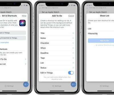 Things 3.7 adds Siri Shortcuts support and templates, plus Landscape on iPhone