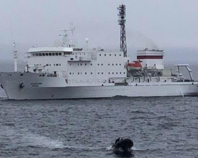 One Ocean Expeditions Akademik Ioffe grounded near Kugaaruk, Nunavut