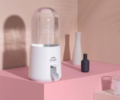 Evian Showcases the Virgil Abloh-Designed Renew Dispenser in Action