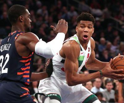 The Greek Freak steals Knicks' Christmas show