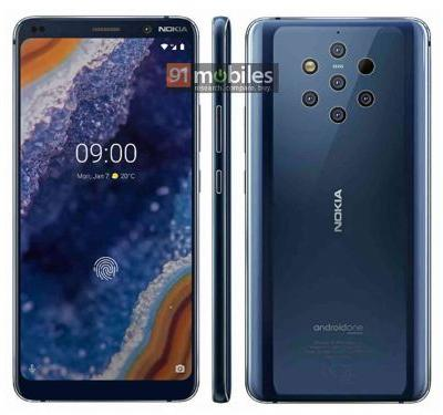 Nokia 9 PureView appears in leaked renders, penta-lens rear camera setup in tow