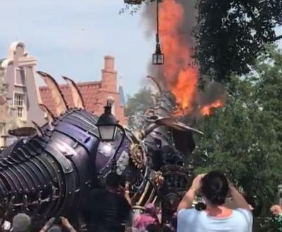 Float catches fire during parade at Florida's Disney World, officials say