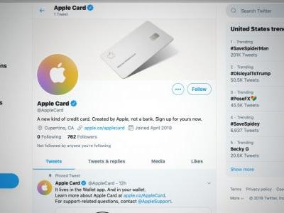 Apple launches Twitter account for the Apple Card