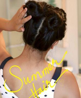 Easy Everyday Hair Styles for the Dog Days of Summer, Day 4: Friday Fun Buns