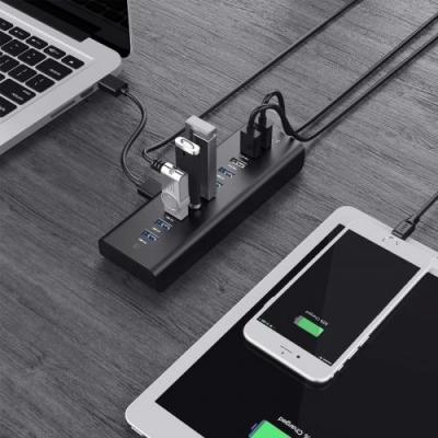 Transfer data and charge devices with the $22 Aukey 10-port Powered USB Hub