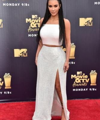 Kim Kardashian's Response To Her MTV Movie & TV Awards Braids Backlash Involves North West