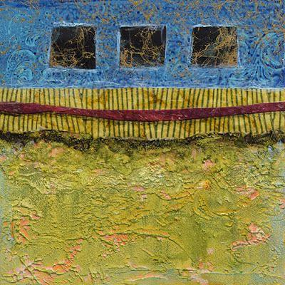 "BOGO, Contemporary Abstract Mixed Media Painting ""Three Widows"" by Santa Fe Contemporary Artist Sandra Duran Wilson"