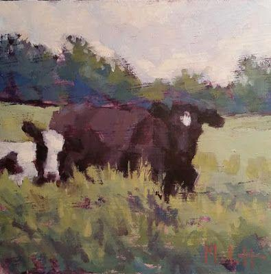 Cow Painting Contemporary Impressionism Daily Art