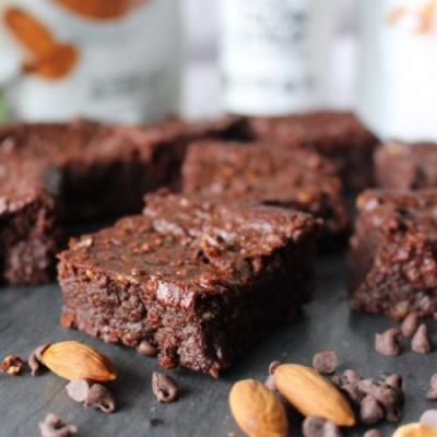 Vegan Gluten-Free Almond Brownies