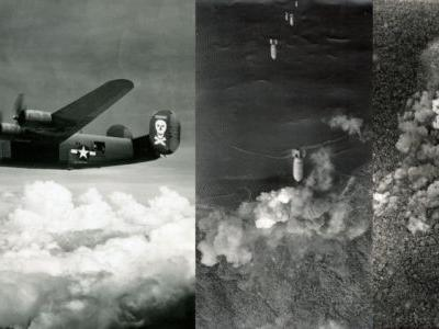 These Photos Were Shot Handheld Out a B-24 Bomb Bay in WWII