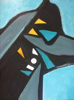 """Abstract Expressionism, Contemporary Art, Acrylic Painting """"Anubis"""" by Arizona Abstract Artist Cynthia A. Berg"""