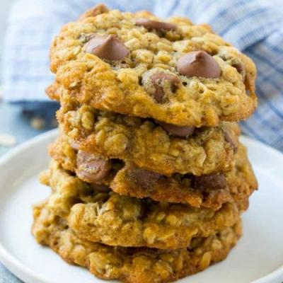 High Protein Chocolate Oat Cookies